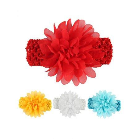 Directer Fashion Baby Girls Kids Chiffon Flower Elastic Headband Hair Accessory Headwear