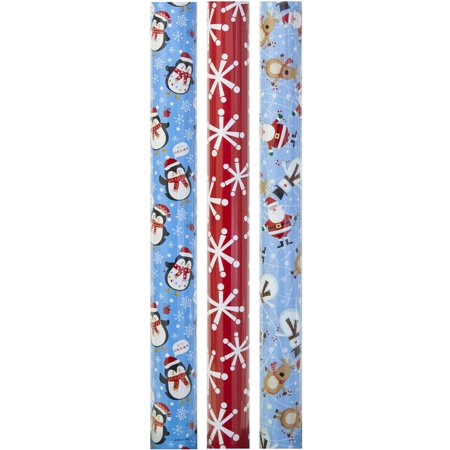 30 3 roll christmas wrapping paper - Walmart Christmas Wrapping Paper