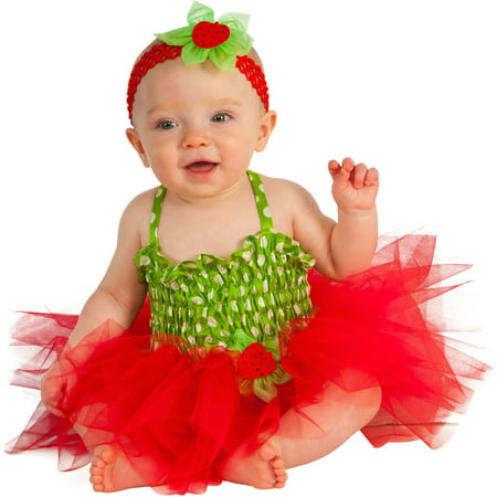 Strawberry Infant Tutu Dress Halloween Costume (Infant Tutu Halloween Costumes)