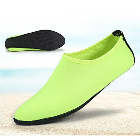 Barefoot Water Skin Shoes, Epicgadget(TM) Quick-Dry Flexible Water Skin Shoes Aqua Socks for Beach, Swim, Diving, Snorkeling, Running, Surfing and Yoga Exercise (Green, S. US 3-4 EUR 34-35)