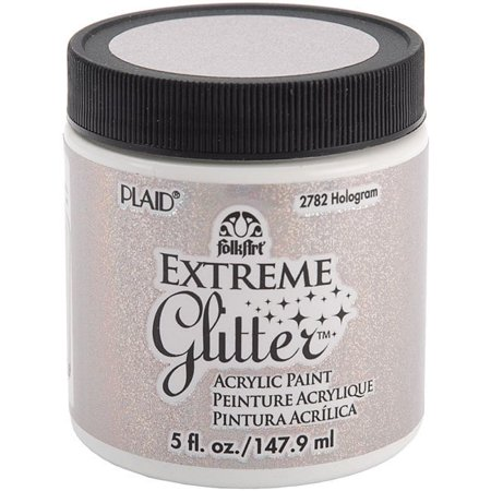 Folk Art Extreme Glitter Paint 5 Ounces-Hologram (Folk Art Halloween Crafts)