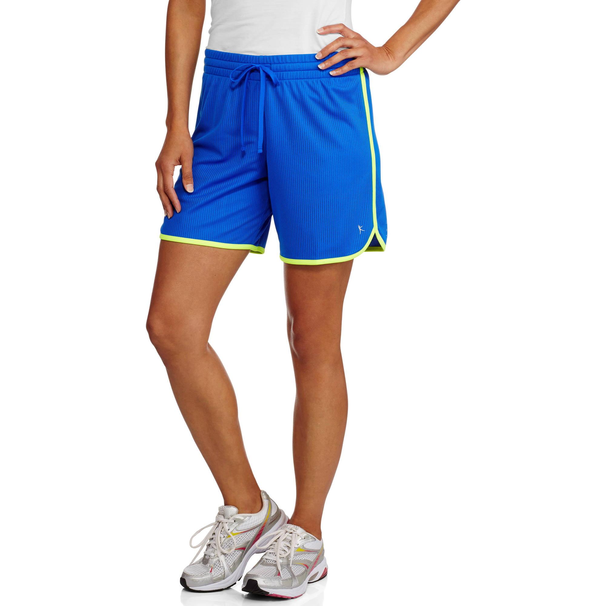Danskin Now Women's Active Long Mesh Basketball Shorts