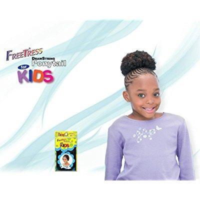 AFRO 4'' - Shake N Go FreeTress Drawstring Ponytail for KIDS 2 Dark - Freetress Weave