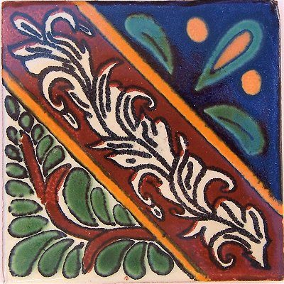 2x2 Morelia Talavera Mexican Tile Set of 36 pcs
