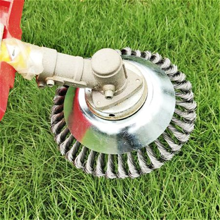 Lawn Mower Weeding Head Steel Wire Weeding Brush Twisted Wire Bowl Type - image 4 of 8