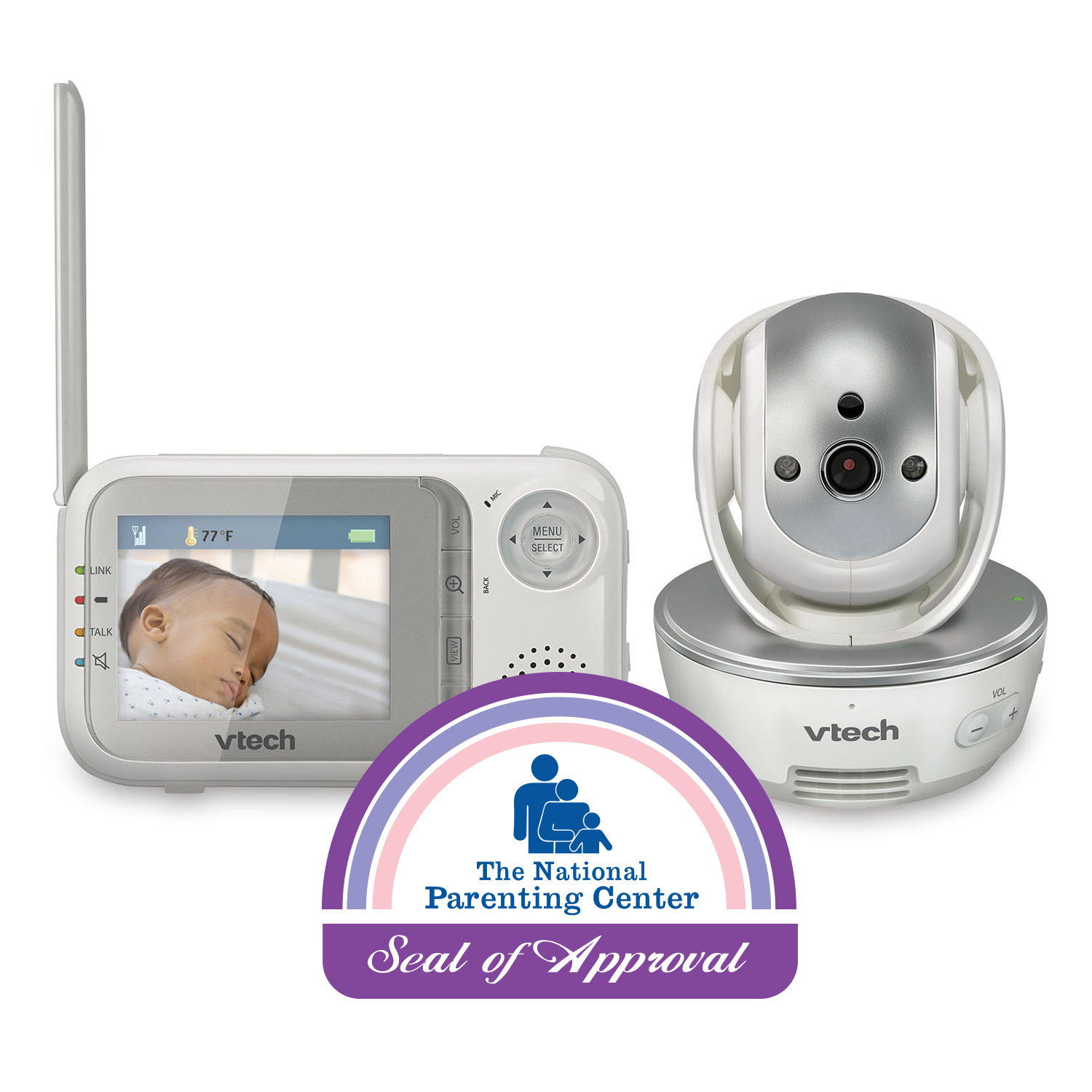 VTech VM333, Video Baby Monitor with Night Vision, Pan & Tilt Camera & Two-Way Audio