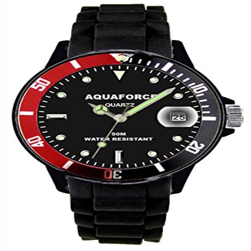 Image of Aqua Force Rotating Bezel Analog Watch with 42mm Black Face