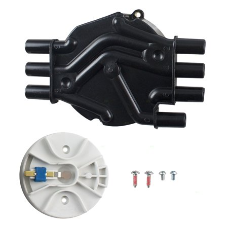 BROCK Ignition Distributor Cap & Rotor Kit Replacement for Oldsmobile Chevrolet GMC Pickup Truck SUV Van 4.3L 10452457 8104524580 ()