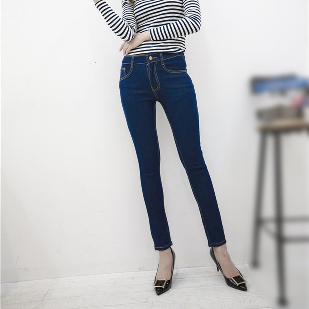 Fashion Classic High Waisted Elastic Slim Jeans Long Skinny Pencil Jeans Great for Women For Spring Summer
