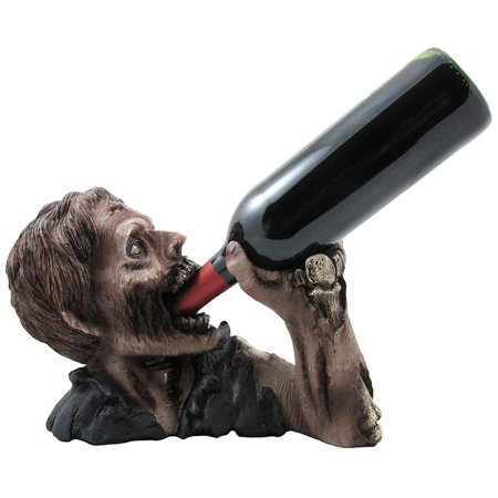 1 X Decorative Graveyard Zombie Wine Bottle Holder Statue for Scary Halloween Party Decorations, Medieval & Gothic Sculptures As Ghoulish Bar Display Racks &.., By Home 'n Gifts for $<!---->