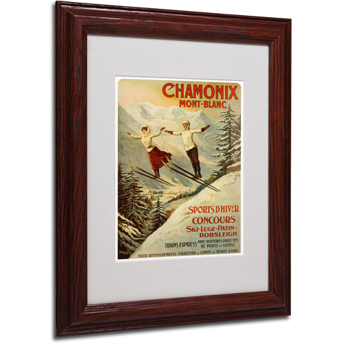 Trademark Fine Art 'Chamonix Mont Blanc' Framed Matted Art by F. Tamanjo