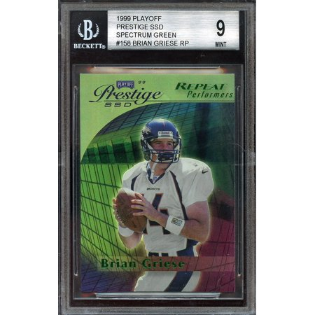 1999 Playoff Prestige Ssd (1999 playoff prestige ssd spectrum green #158 BRIAN GRIESE rookie BGS 9)