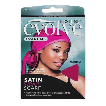 - (2 Pack) Firstline Evolve Go Satin Nighttime Hair Wrap Scarf Cap, Fuchsia/Pink