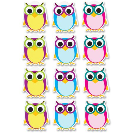 Ashley, ASH10142, Dry Erase Owl Magnets, 12 Piece, Multicolor