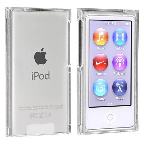 Insten Clear Crystal Transparent Hard Snap-On Case Skin Cover For Apple iPod Nano 7th Gen 7G 7