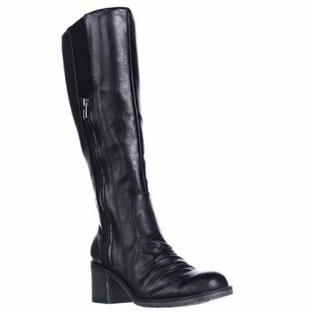 Womens BareTraps Dallia Scrunch Toe Riding Boots, Black