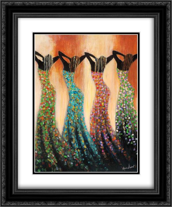 Dance of the Summer Solstice 2x Matted 20x24 Black Ornate Framed Artwork Print... by FrameToWall