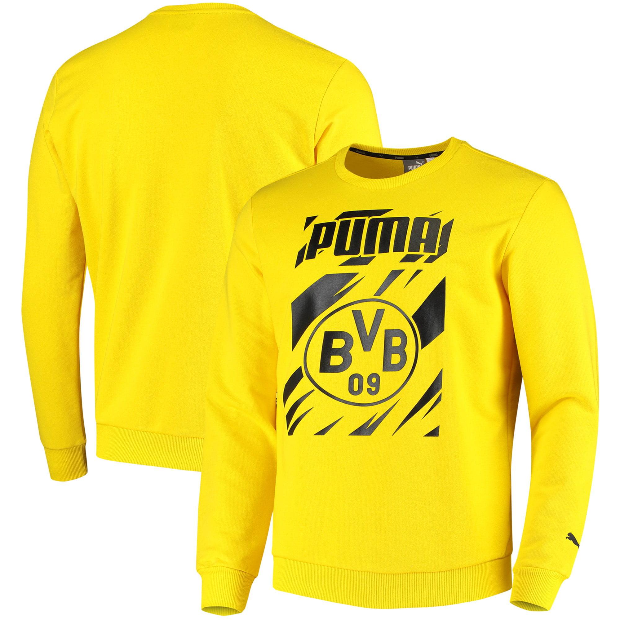 PUMA - Borussia Dortmund Puma ftblCORE Pullover Sweatshirt - Yellow - Walmart.com