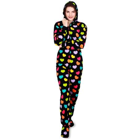 6bd587861 Fun Boxer - Fun Apparel Womens Footed One Piece Pajamas
