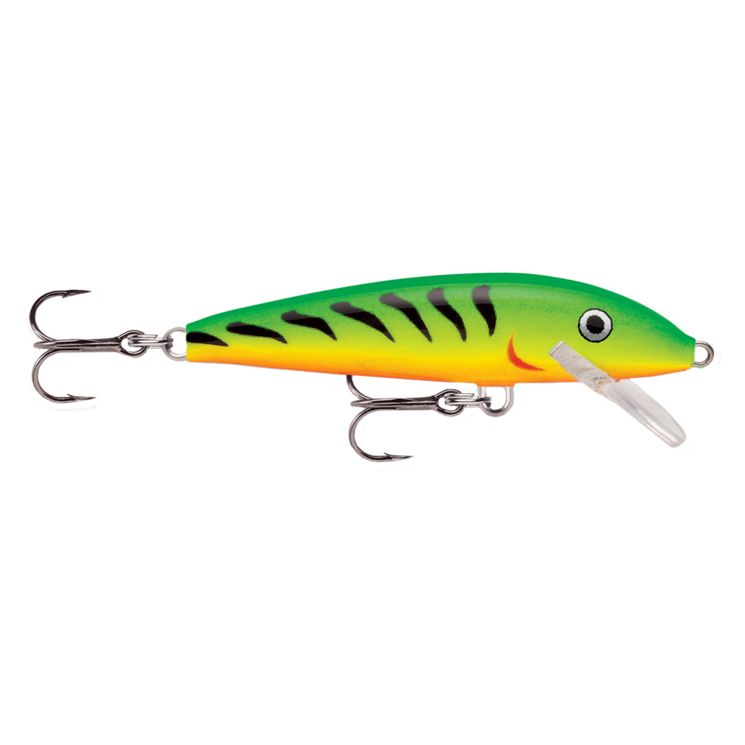 "Rapala Original Floating Lure Size 07, 2 3 4"" Length, 3'-5' Depth, 2 Number 7 Treble Hooks, Fire Tiger, Per 1 by Rapala"