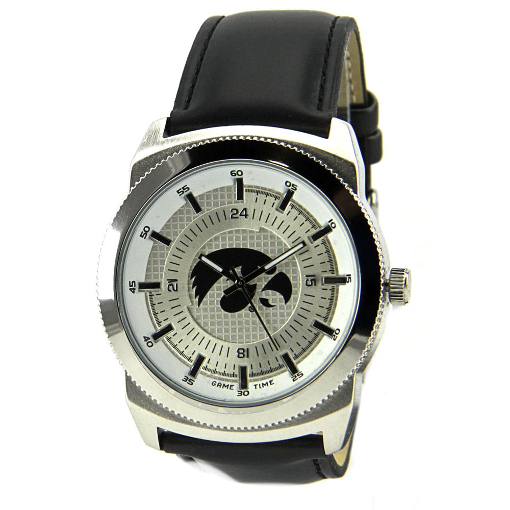 Game Time Iowa Hawkeyes Vintage Stainless Steel  Men Watch
