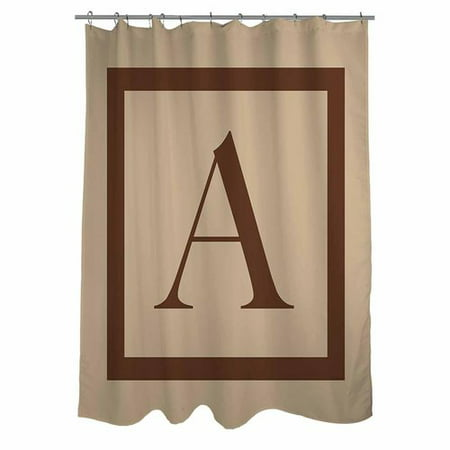 Monogram Shower Curtain (Thumbprintz Classic Block Monogram Caramel Shower Curtain)