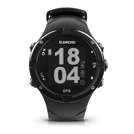 Sunroad GPS Smart Watch 50M Waterproof Heart Rate Monitor Activity Tracker Watch Outdoor Multi-Sport Triathlon Running Watch for Men Women (Sonnenbrille Triathlon)