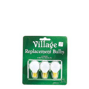 Village Replacement Round Light Bulbs Set of 3