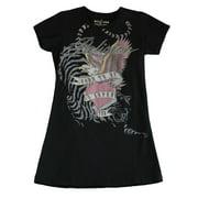 Religion Toddler Girl's Super Star Printed Shirt Dress 4-5 Years Black
