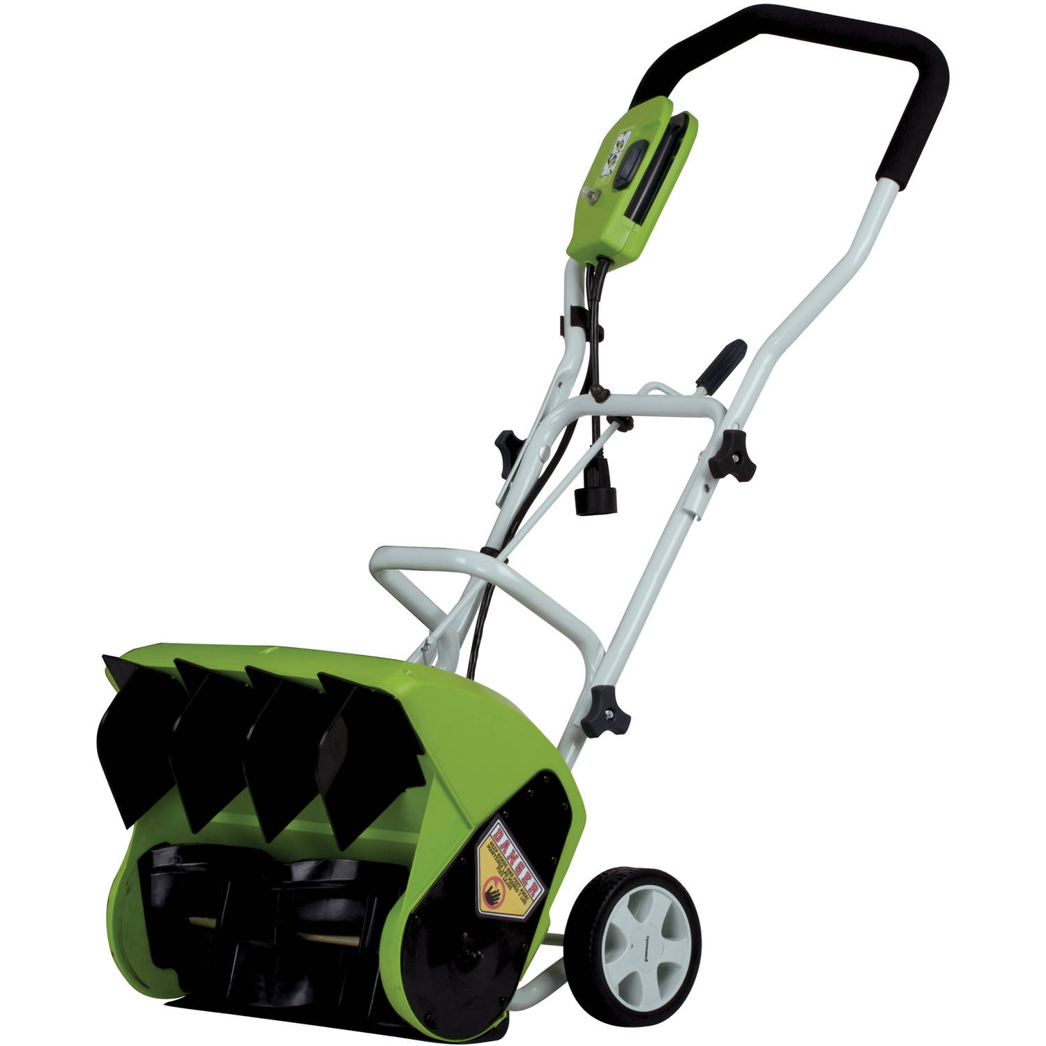 "Greenworks 9-amp 16"" Electric Snow Thrower, Green"