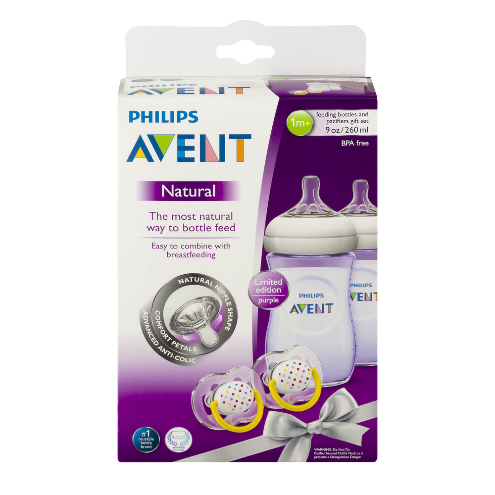 Philips Avent Natural Feeding Bottles and Pacifier Set, 1.0 KIT
