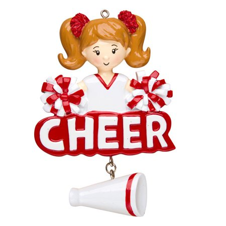 Cheer Girl Personalized Christmas Ornament DO-IT-YOURSELF Good Cheer Ornament
