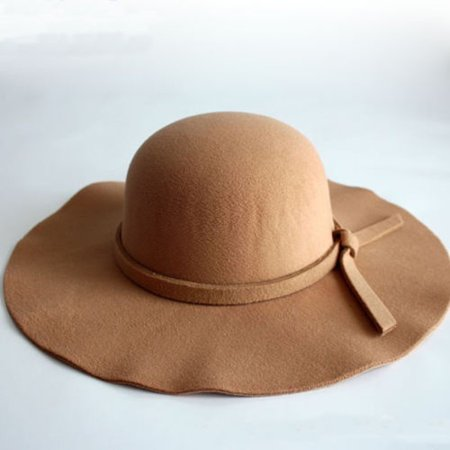 Wide Brim Sun Hat Bowler Hats Ladies Women Wool Floppy Felt Fedora Hat Vintage Style Hat