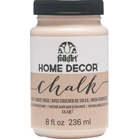 Folkart Home Decor Chalk Paint 8Oz-Sunset Rose - image 1 of 1