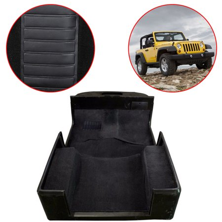 Black Jeep Wrangler (Jeobest Jeep Wrangler Carpet Replacement Kit - For YJ Jeep Wrangler 1987-1995 Black 6 Piece Set Full Replacement Carpet Kit (Please see the picture to check if it is applicable your car model))