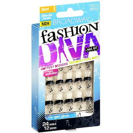 Broadway nails fashion diva nail kit 24ct - Diva nails and beauty ...
