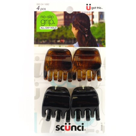Scunci No Slip Grip Jaw Hair Clips - 4 (Jacobs Jaw)
