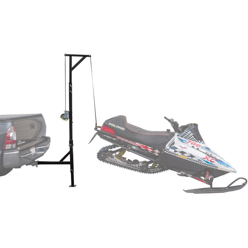 Black Ice Hitch-Mounted 360 Degree Swivel Snowmobile Lift Hoist