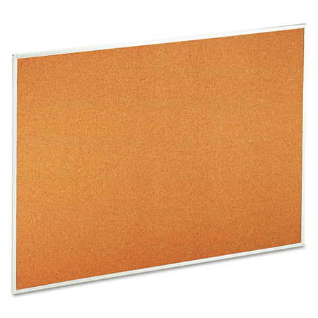 Universal Natural Cork Bulletin Board  48   X 36    Satin Finished Aluminum Frame
