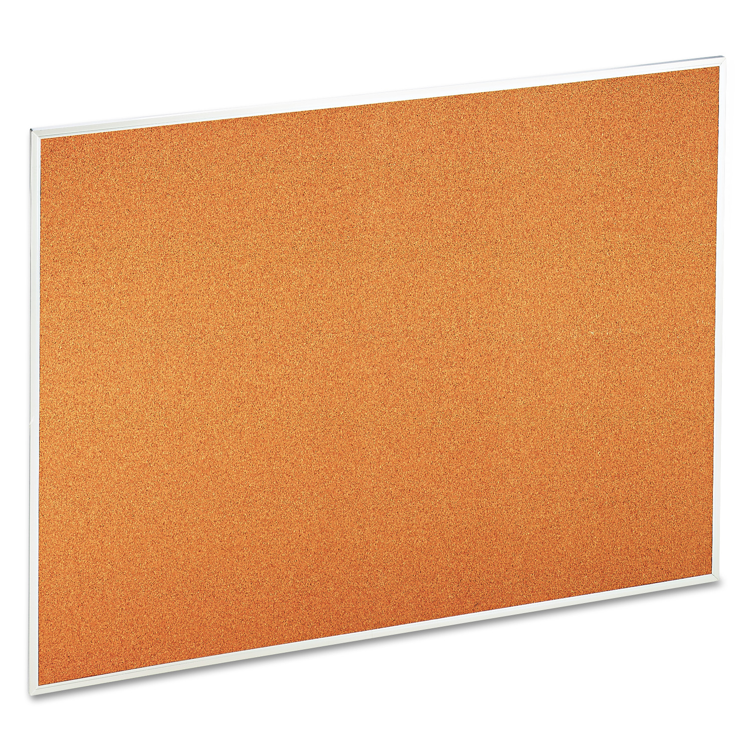 "Universal Natural Cork Bulletin Board, 48"" x 36"", Satin-Finished Aluminum Frame"