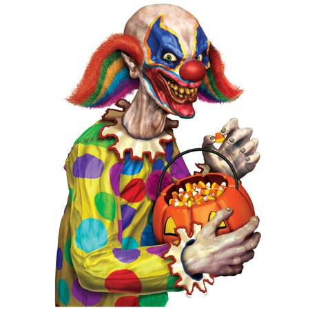 New Halloween Back Seat Driver Creepy Clown Car Clings Party Decoration 12-17