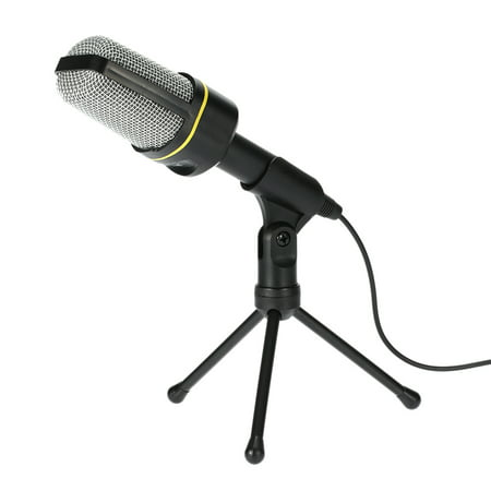 Desktop Microphone with Tripod Professional Podcast Studio Microphone For Laptop/PC (3.5mm Jack/2.1M-Cable) For Recording Vocals & Acoustic