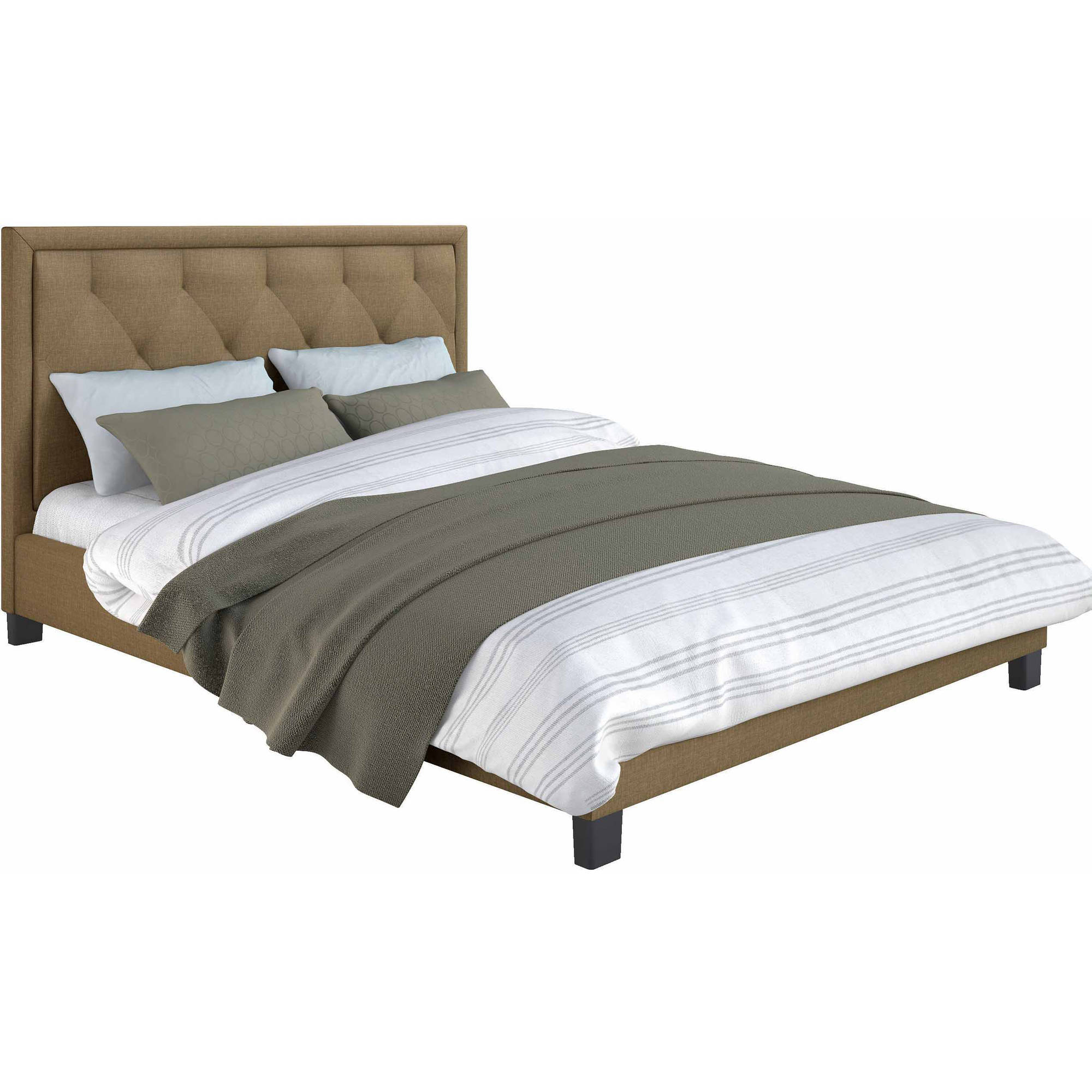 CorLiving Fairfield Diamond Tufted Upholstered Queen Bed