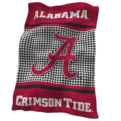 Logo Brands Alabama Houndstooth Ultra Soft Throw