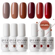 Gellen Gel Polish Set Caramel Colors Series - 6 Colors 8ml Each, Home Gel Manicure Kit - Best Reviews Guide