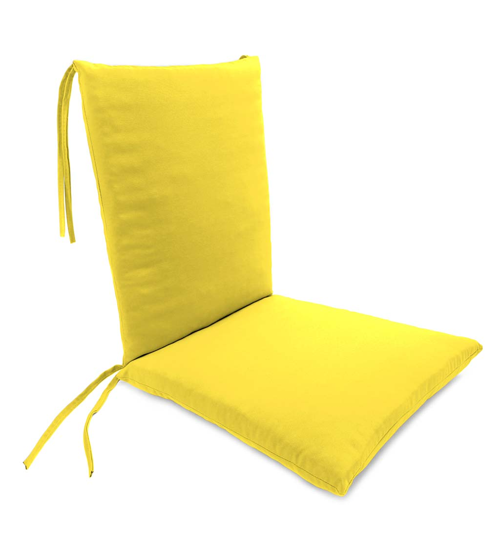 Weather Resistant Outdoor Rocker Chair Cushion With Ties Walmart Com