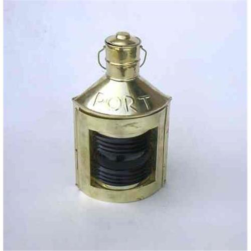 Benzara Port Ship Lantern Brings Completeness to Existing Nautical Decor, Red