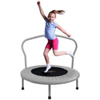 ATIVAFIT 36-Inch Folding Trampoline Mini Rebounder?,Suitable for Indoor and Outdoor use, for Two Kids with safty Padded Cover