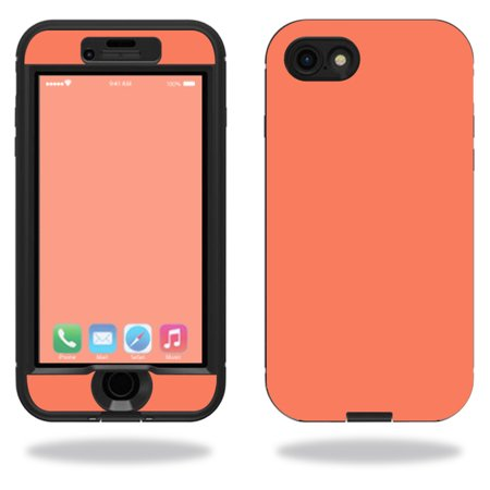 MightySkins Protective Vinyl Skin Decal for Lifeproof Nuud iPhone 7 sticker wrap cover sticker skins Solid Salmon (Salmon Skin Rolls)