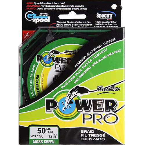 Power Pro Fishing Line - Moss Green, 150 yards, 50 lbs